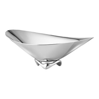 Georg Jensen Modern Stainless Steel Small Wave Bowl Designed by Henning Koppel For Sale