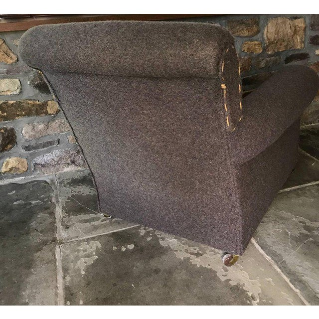 Pair of Rolled Arm Club Chairs For Sale - Image 4 of 7
