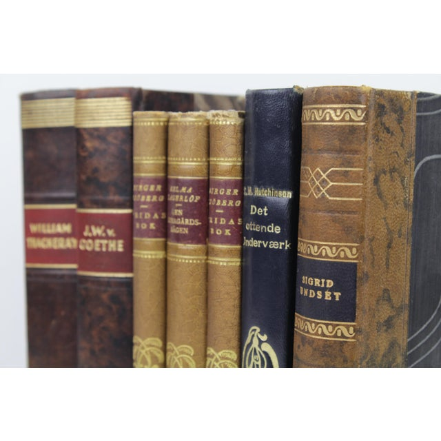 Art Deco Leather-Bound Books - Set of 7 - Image 4 of 4