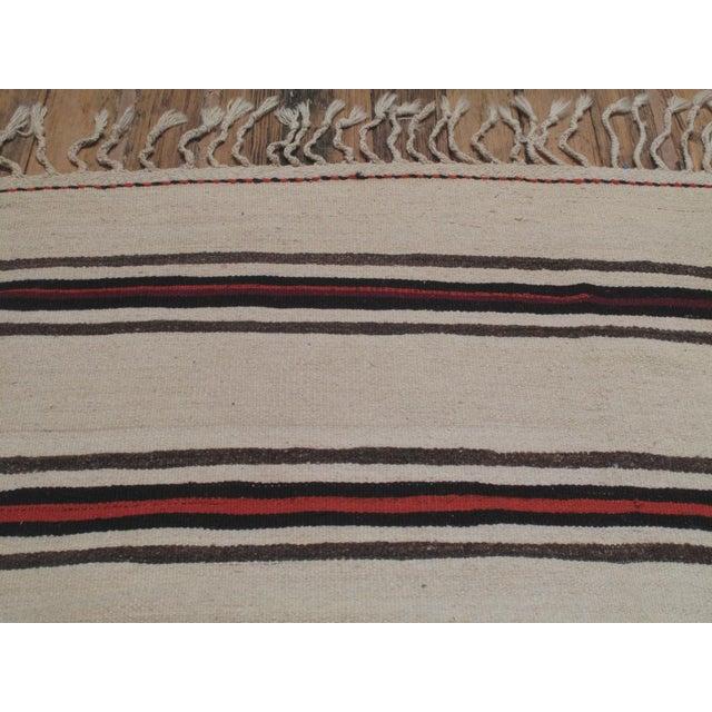 1950s Large Banded Kilim For Sale - Image 5 of 5