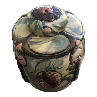 Secessionist Art Nouveau Mushroom Tobacco Jar For Sale