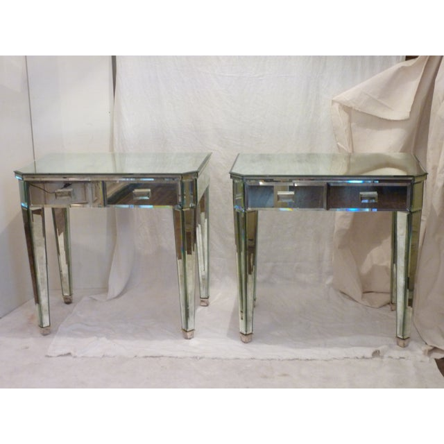 Mirrored Side Tables - A Pair - Image 2 of 10