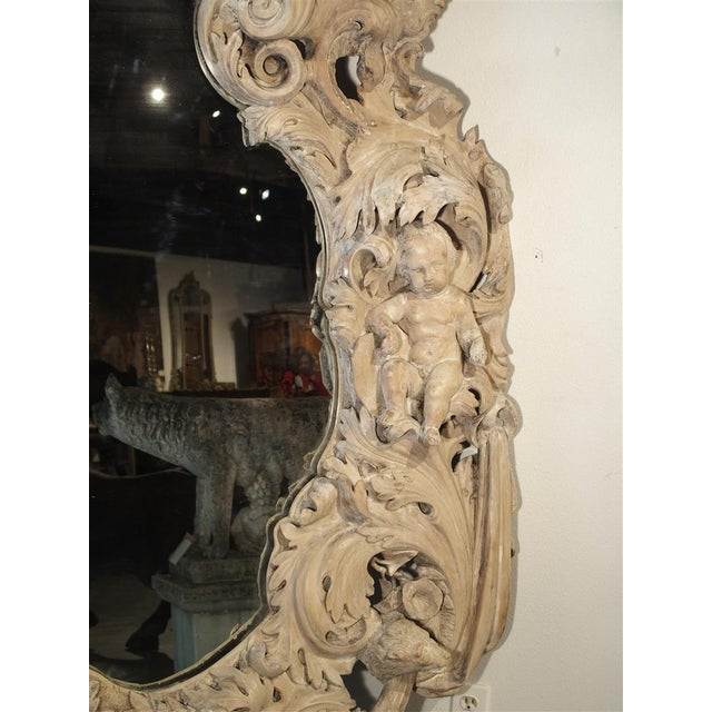 Mid 19th Century Monumental 19th Century Baroque Mirror from Italy For Sale - Image 5 of 11