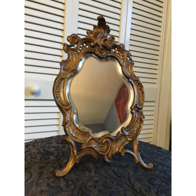 1800s Antique Louis XV Style French Vanity Mirror For Sale - Image 12 of 13