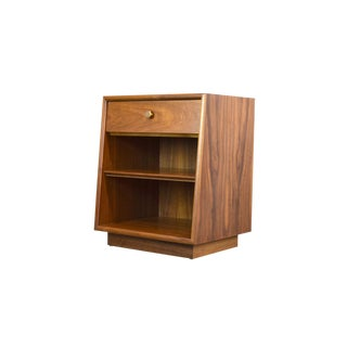 Kipp Stewart Drexel 'Declaration' Walnut Nightstand or Side Table