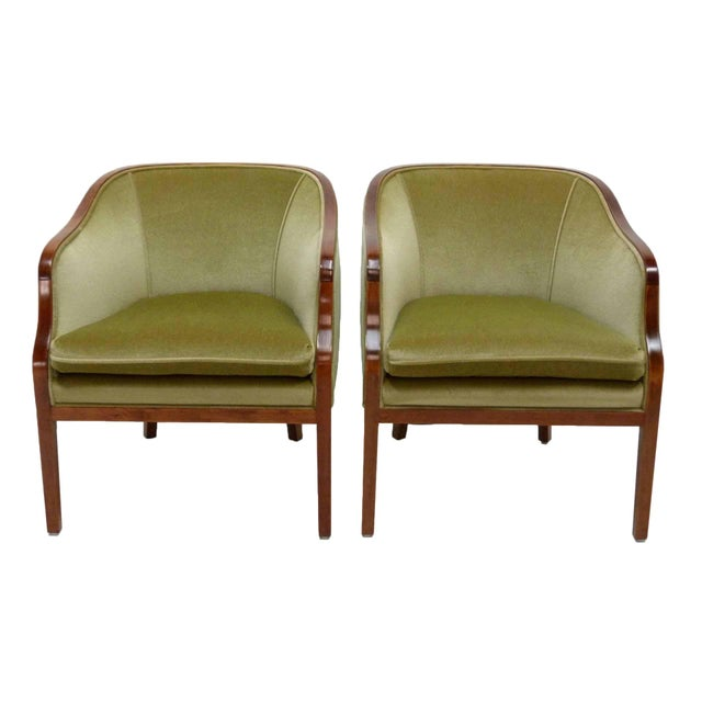 Ward Bennett Mohair Club Chairs - Pair - Image 1 of 10