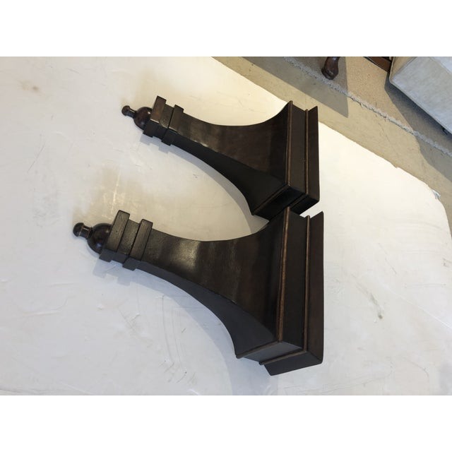 Mahogany Regency Style Wall Brackets -A Pair For Sale - Image 9 of 10