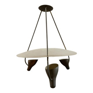 Stilnovo Style Lightolier Mid-Century Pendant Chandelier For Sale