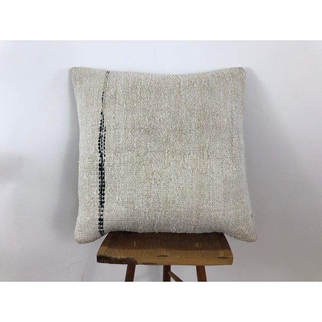 Brown 1960s Boho Chic Hemp Pillow For Sale - Image 8 of 8