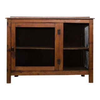 19th Century Americana Diminutive Wooden Storage Cabinet For Sale