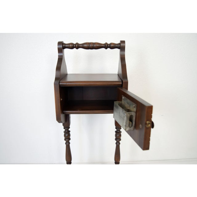 1900's Vintage Sewing Storage Side Table For Sale - Image 9 of 13
