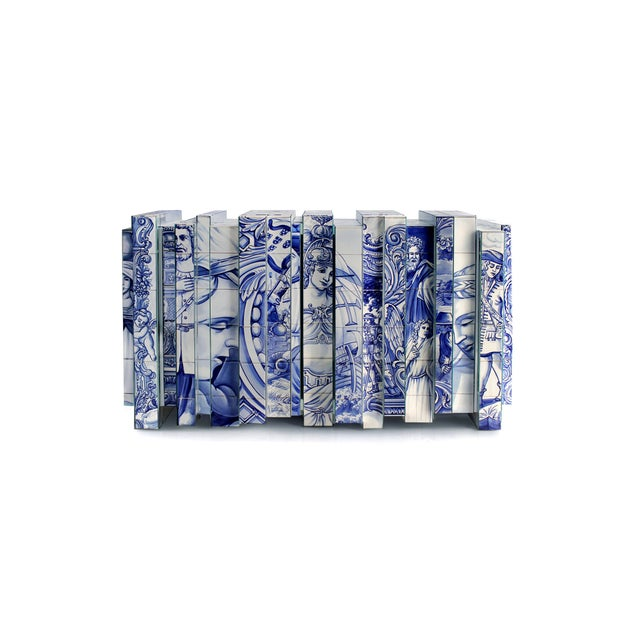 Heritage Blue Sideboard From Covet Paris For Sale - Image 6 of 6