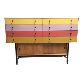 Vintage Danish Mid Century Multi-Color Dresser