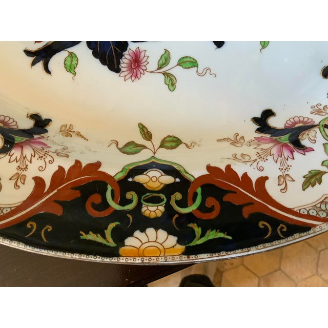 Early 20th Century Early 20th Century English Royal Doulton Matsumai Hand Painted Serving Platter For Sale - Image 5 of 11
