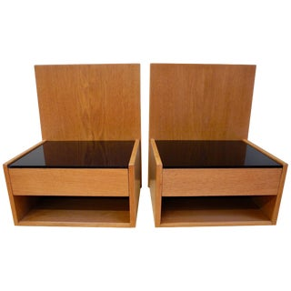 Pair of Danish Modern Teak Nightstands Designed by Hans Wegner For Sale