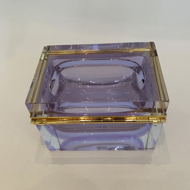 21st Century Murano Lavender Giant Crystal Jewel Box by Mandruzzato For Sale - Image 9 of 10