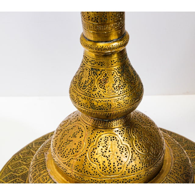 Figurative 19th Century Antique Syrian Brass Dining Table Base For Sale - Image 3 of 13