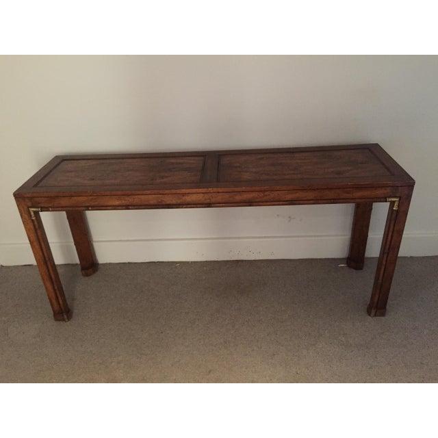 Burled Wood Sofa Table - Image 2 of 3