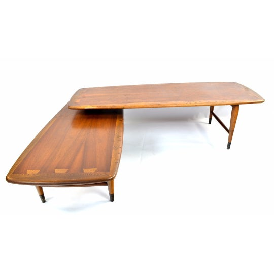 Lane Furniture Lane Switchblade Two Sections Cocktail Table For Sale - Image 4 of 5