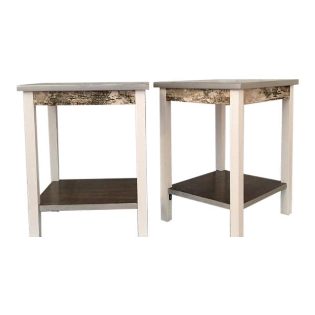 Rustic Farmhouse End Tables - a Pair - Image 1 of 5