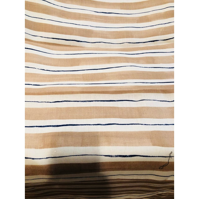 Fabric Rebecca Atwood Painterly Stripe Fabric For Sale - Image 7 of 7