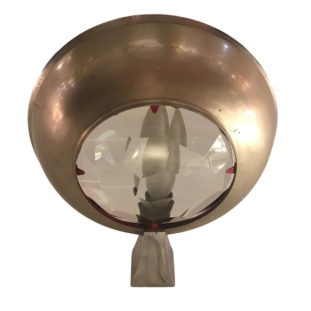 1960s Max Ingrand for Fontana Arte Wall Light With Faceted Glass For Sale - Image 5 of 6