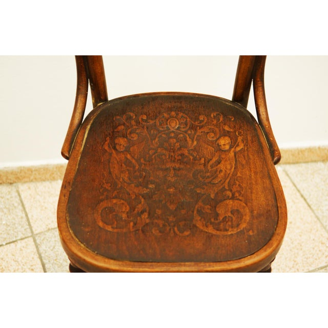 Beech Austrian bentwood chair For Sale - Image 7 of 11