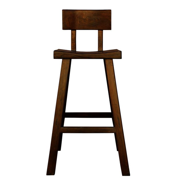 Handmade Solid Wood Bar Stool For Sale In San Francisco - Image 6 of 6