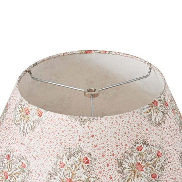 Schumacher Schumacher Cassis Floral Linen Lampshade in Rouge For Sale - Image 4 of 5
