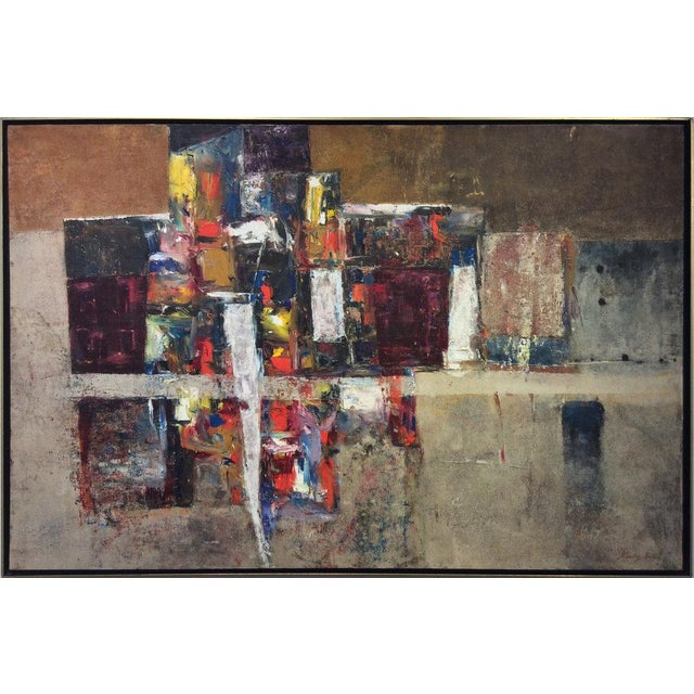 Abstract Stanley Bate, Exodus Painting, Circa 1960 For Sale - Image 3 of 6