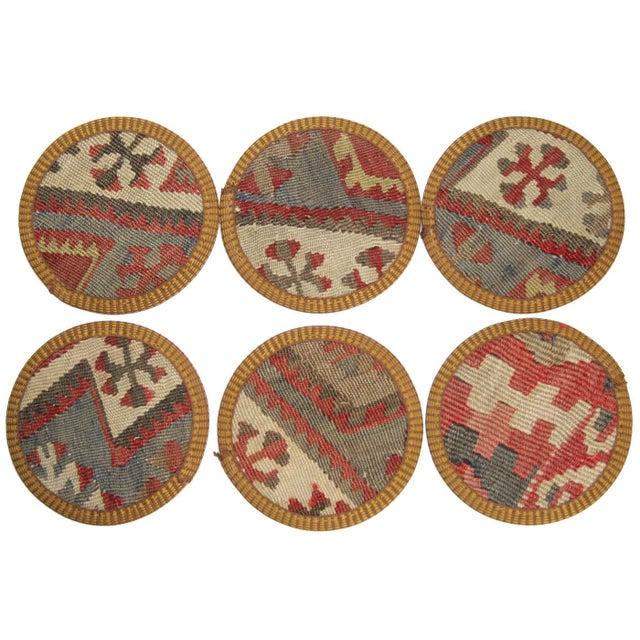 Kilim Coasters, Yüncühasan - Set of 6 - Image 2 of 2