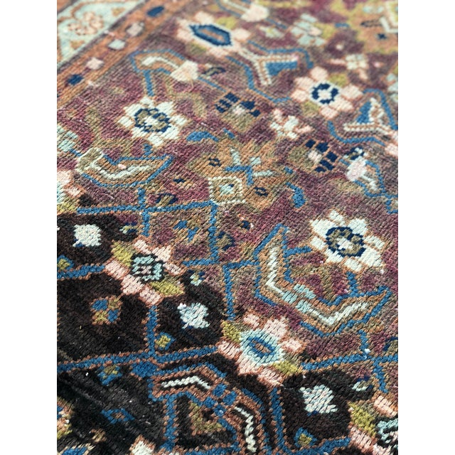 "Vintage Persian Hamadan Rug - 3'4"" x 5'5"" - Image 9 of 10"