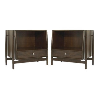 1950s Walnut End Tables by Kipp Stewart - a Pair For Sale