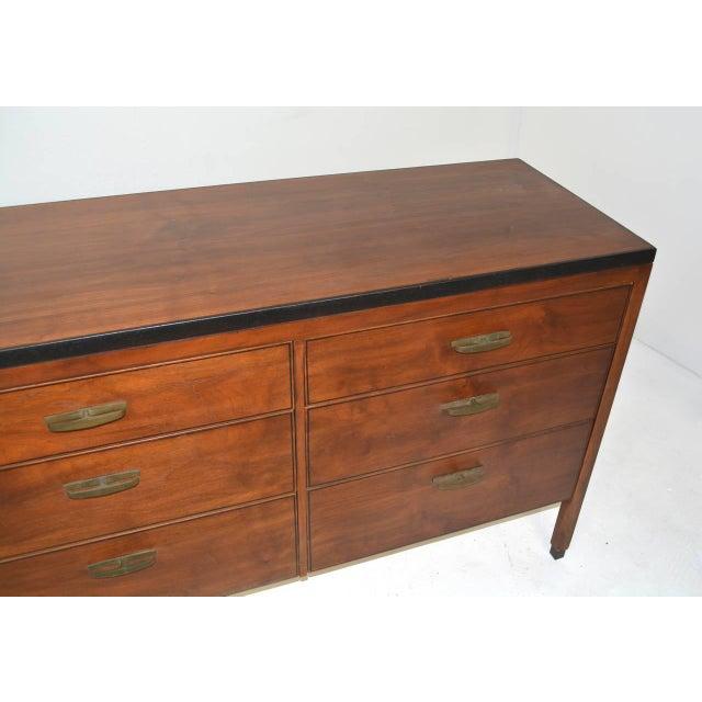 Mid-Century Nine-Drawer Dresser For Sale - Image 4 of 5