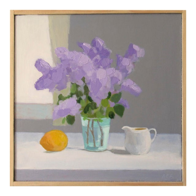 Lilac, Lemon and Creamer by Anne Carrozza Remick For Sale