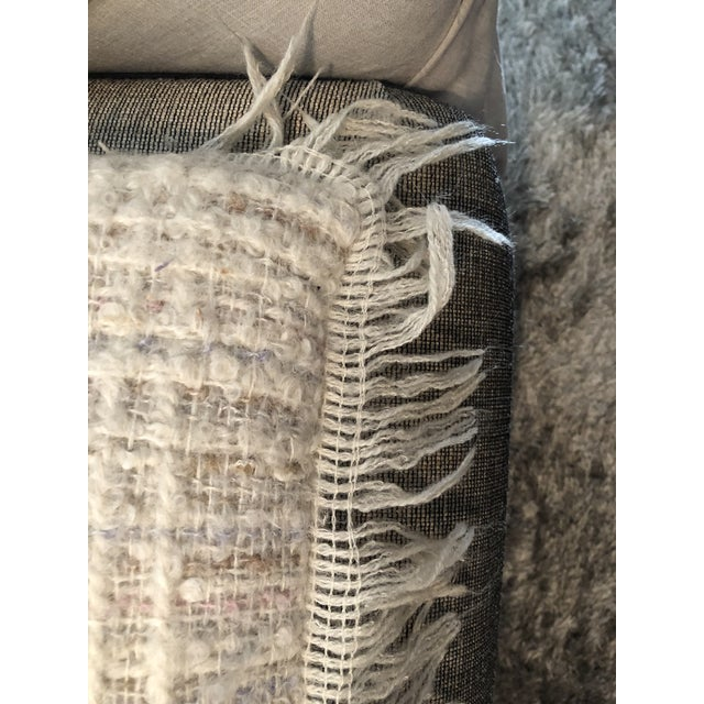 Textile Vintage Hand Woven Irish Wool Pillow For Sale - Image 7 of 8