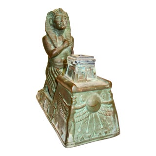 French Ceramic Egyptian Style Incense Burner For Sale