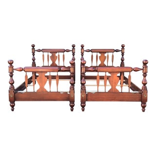 Harden Solid Cherry Twin Beds- a Pair For Sale