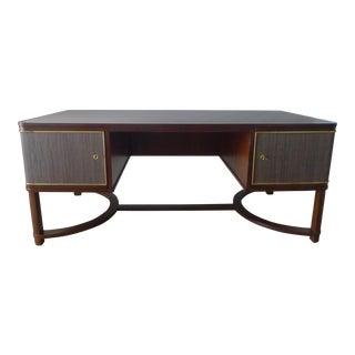Restored Expansive Modern French Art Deco Executive Desk