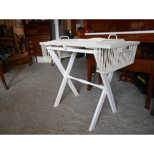 Lap Tray Side Table Antique White - Image 3 of 10