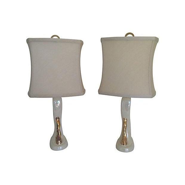 1950s Aladdin Boudoir Lamps - a Pair For Sale
