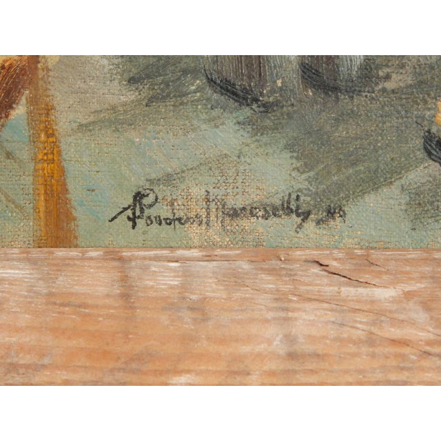 Oil Paint Roudens Maroselli Oil on Canvas For Sale - Image 7 of 8