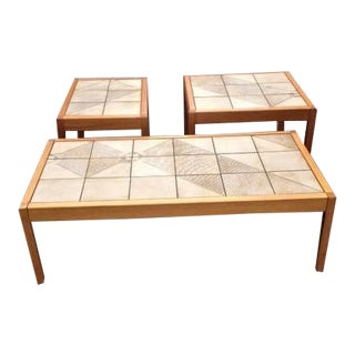 Late 20th Century Gangsø Møbler Coffee Table and Matching Side Tables - 3 Pieces