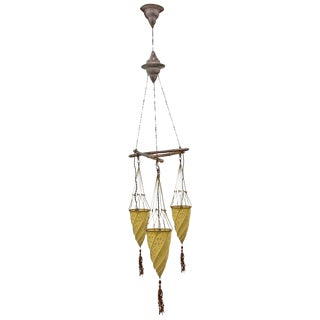 Vintage Italian Fortuny Three-Light Cesendello Fixture For Sale