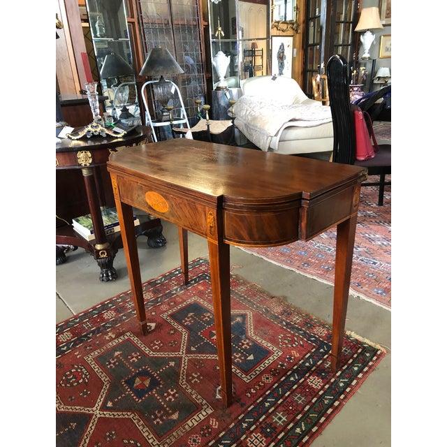 Hepplewhite 1780 Hepplewhite Inlayed Mahogany Game Table For Sale - Image 3 of 13
