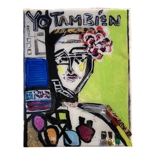 """Yo Tambien Tres"" Mixed Media Painting by Jj Justice For Sale"