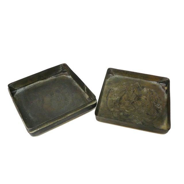 Asian Handmade Metal Bronze Color Trinket Box For Sale - Image 3 of 5