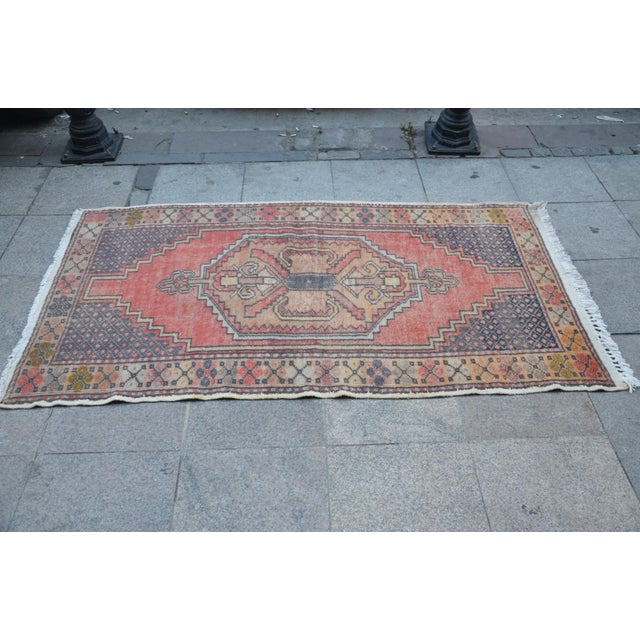 Anatolian Tribal Handwoven Rug - 3′5″ × 6′2″ - Image 4 of 6
