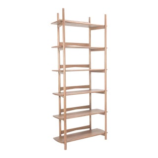 Mora Bookcase by Sun at Six, Sienna, Minimalist Bookcase in Oak Wood For Sale