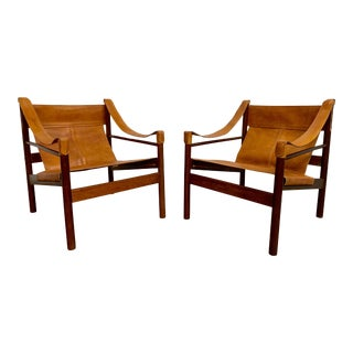 Abel Gonzalez Safari Sling Lounge Chairs - a Pair For Sale